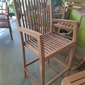 Teak Stacking Bar Stool