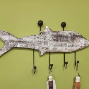 Fish Coat Hanger - White