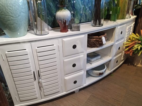 Samrong Half Moon Console - 8ft - Solid White