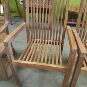 Techo Stacking Teak Arm Chair