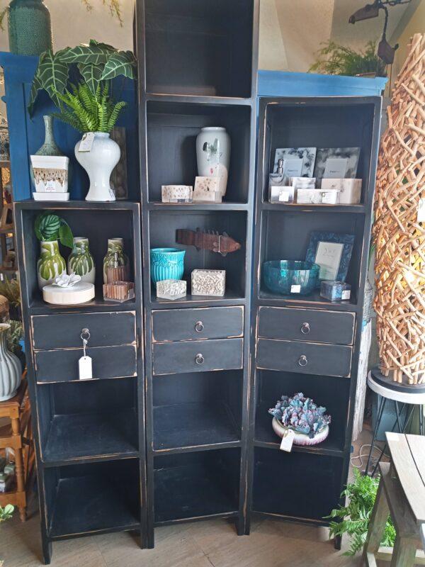 3-Tier Bookcase - Black Electric