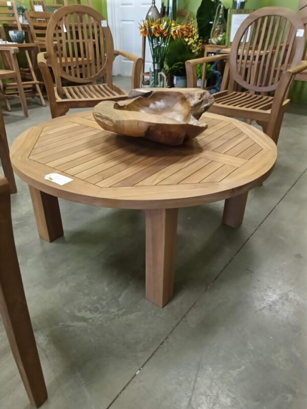 C Teak Coffee Table - Round
