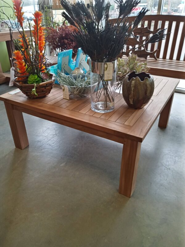 42 inch Square Teak Coffee Table