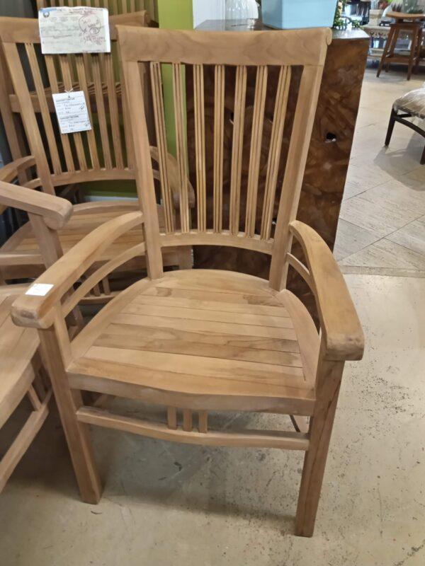 Scroll Teak Dining Arm Chair