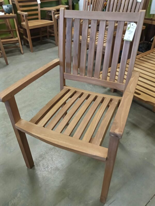 Sussex Teak Stacking Arm Chair