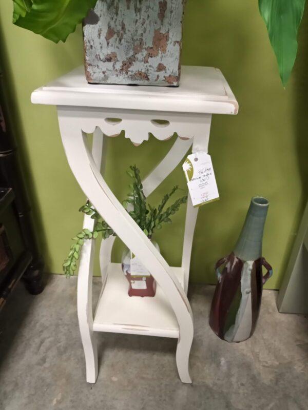 Nesting Side Table - Medium - White Rub