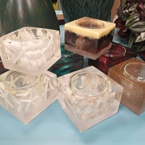 Resin Tea Light Votive Candle Holders
