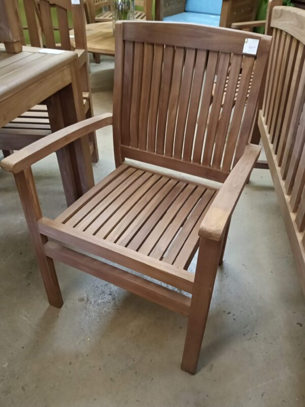 Marley Stacking Teak Arm Chair