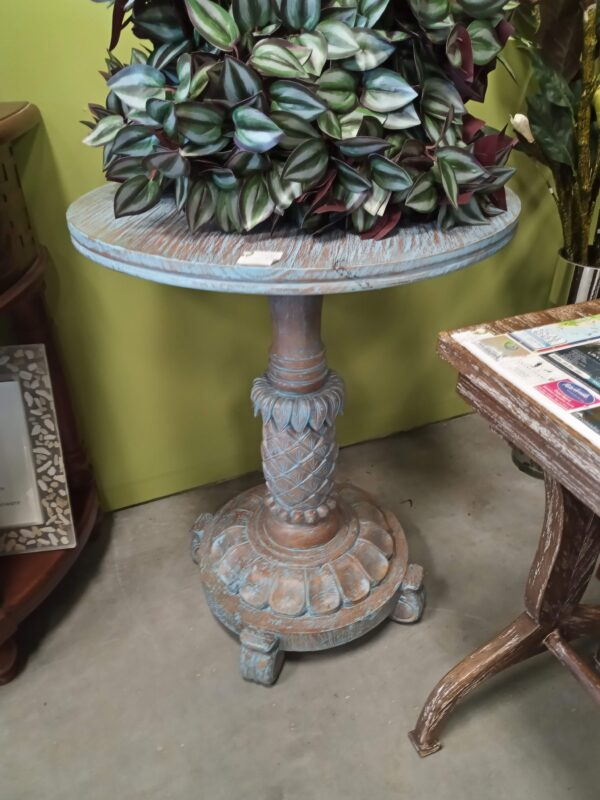 Pineapple Side Table - Blue Wash