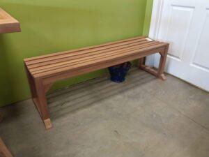 Armless Teak Bench