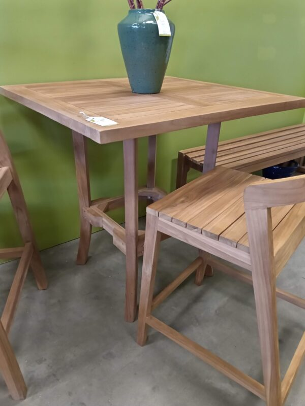 3ft Teak Counter Height Table