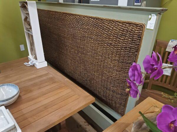 Flat Woven Headboard - Celadon Green
