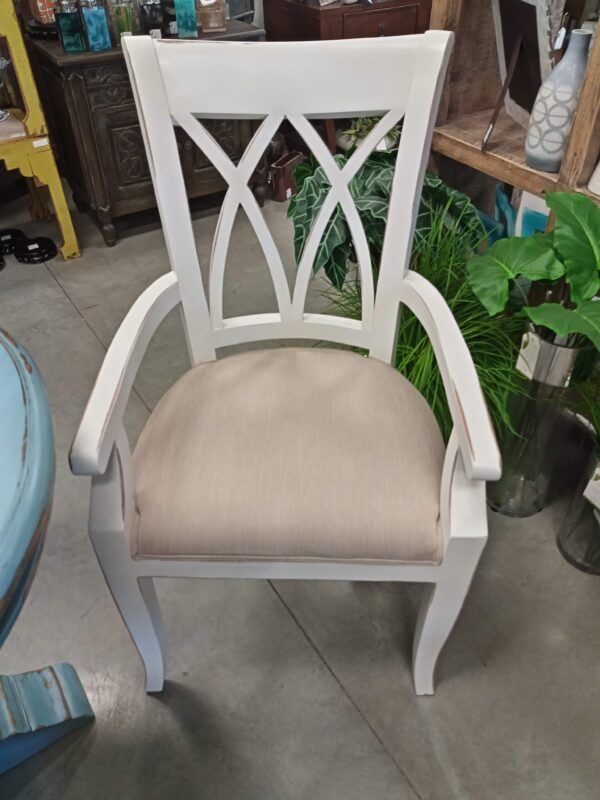 XX Arm Dining Chair - White Rub