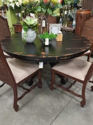 Cumi Dining Table - 5ft - Black Electric
