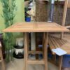 3ft Square Bar Height Teak Table