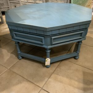 Octagonal Coffee Table - Ocean Blue