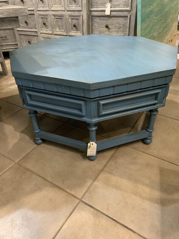 Octagonal Coffee Table - Ocean Blue