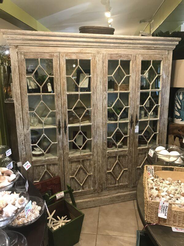 Aqua 4-Door Cabinet - White Wash