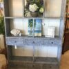 Open Bookcase with 6 Drawers - Grey