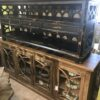 3 Drawer Open Console - Black Electric