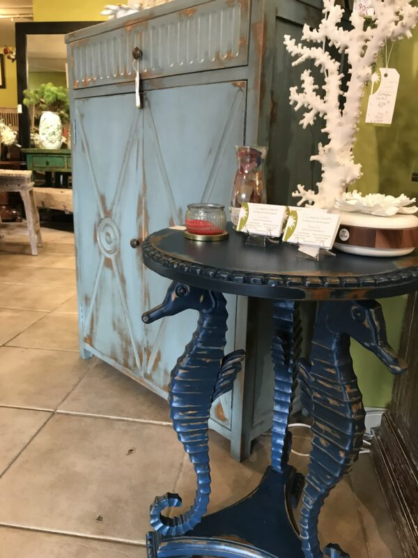Seahorse Side Table - Blue Electric