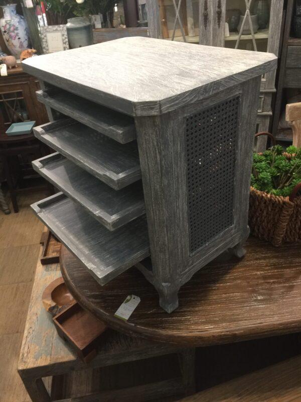 4-Shelf Side Table - Grey