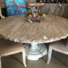 Scallop Flower Dining Room Table - White Wash