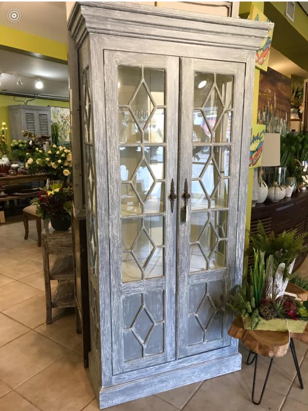 Aqua 2-Door Cabinet - Grey Wash