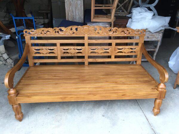 Carving Teak Bench