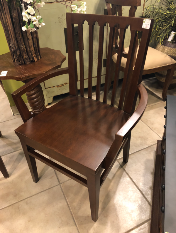 Benham Dining Room Arm Chair - Medium Brown