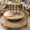 Circle Teak Bench Set