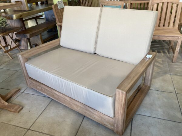Savannah Teak Couch - 2 Seater