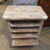 4-Shelf Side Table - White Wash