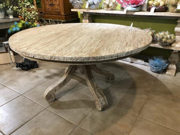 Cumi Dining Table - White Wash