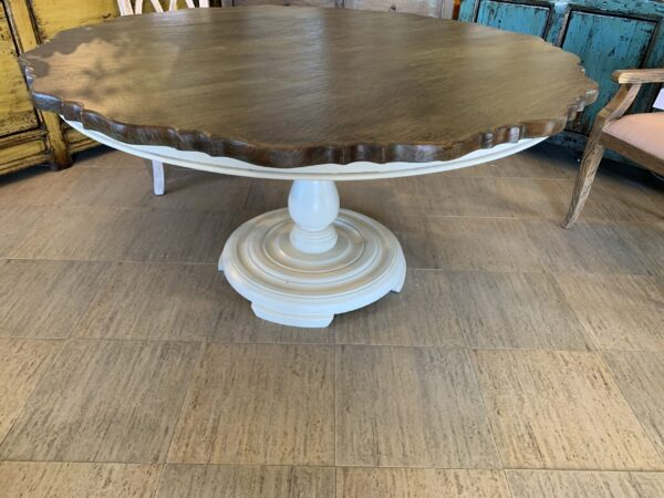 Scallop Flower Dining Room Table - Blue Green