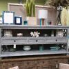 3 Drawer Open Console - Grey