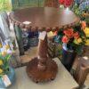 Bevel Lamp Table - Medium Brown