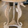 Seahorse Side Table - White Wash