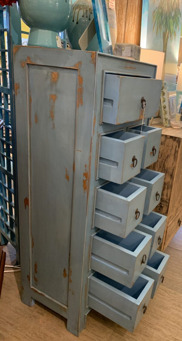 9-Drawer Chest of Drawers - Ocean Blue