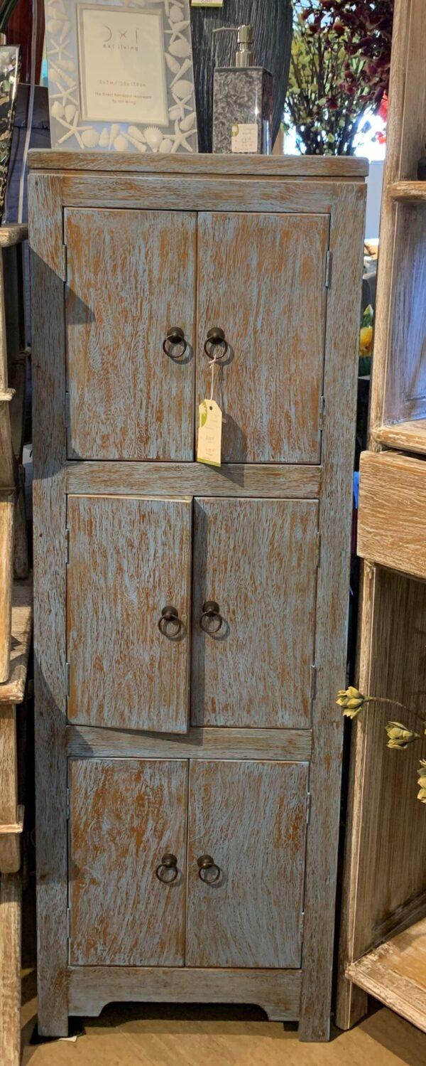 6-Door Chest - Blue Wash