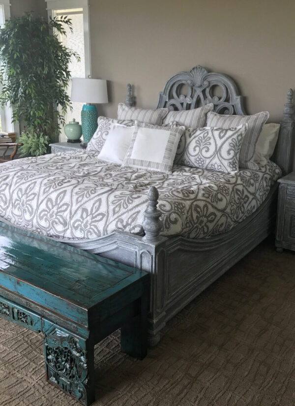 Chennai Bed and Night Stand - Grey