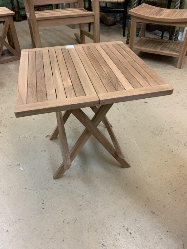 Teak Folding Side Table - Square