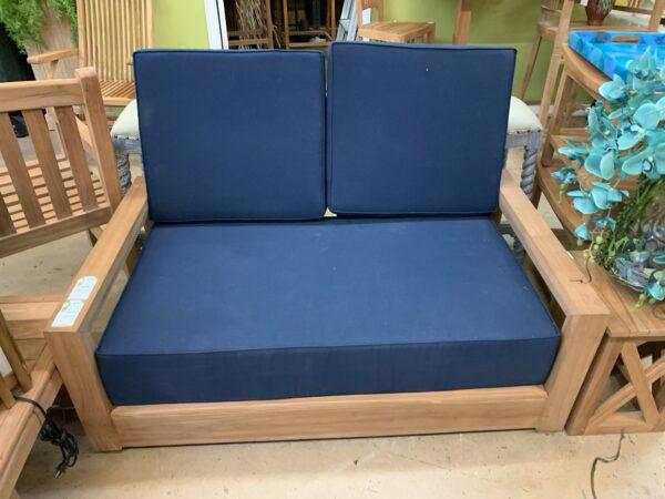Savannah Teak Couch - 2 Seater