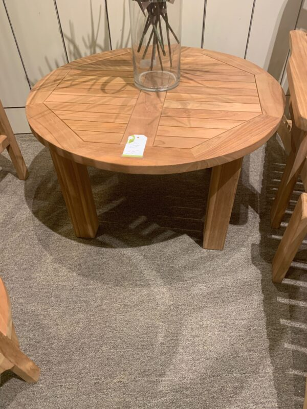 Round Teak Coffee Table