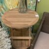 Teak Folding Side Table - Round