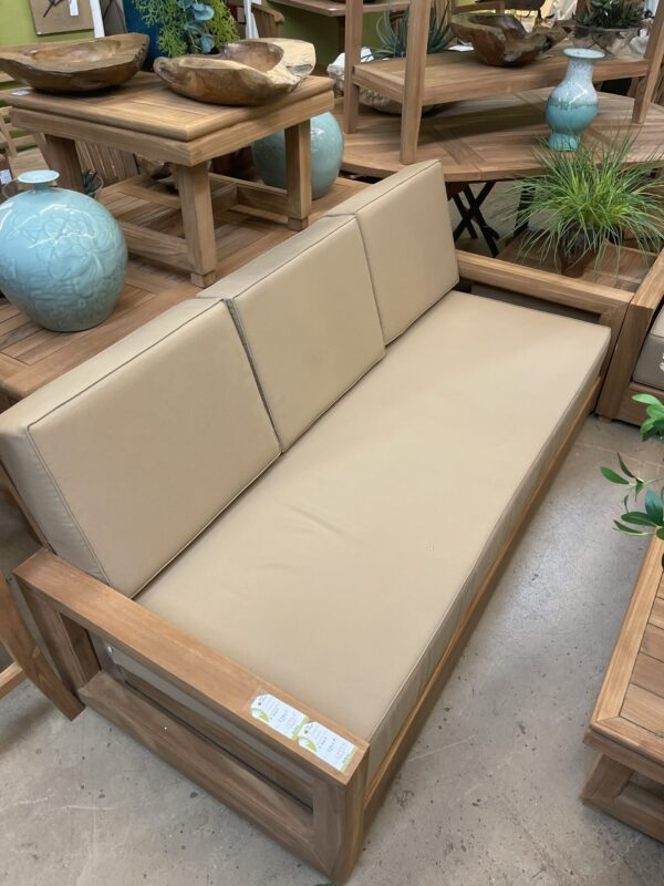 Savannah Teak Couch - 3 Seater